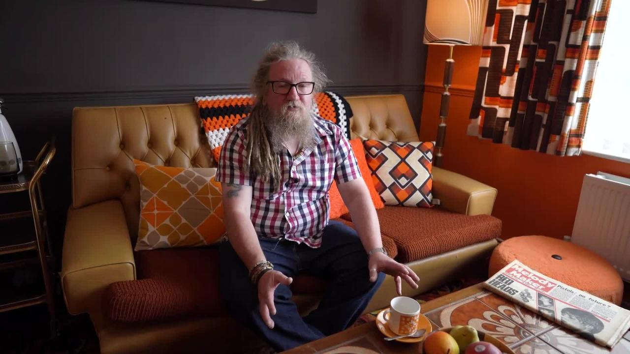 UK dad literally lives in the past after spending THOUSANDS decorating his home in 70s DESIGNS