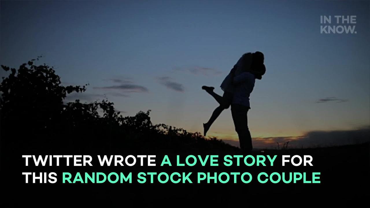 Twitter wrote a love story for this random stock photo couple