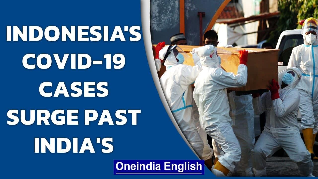 Indonesia witnesses a huge spike in Covid-19 cases  New Asian Virus epicentre  Delta  Oneindia News