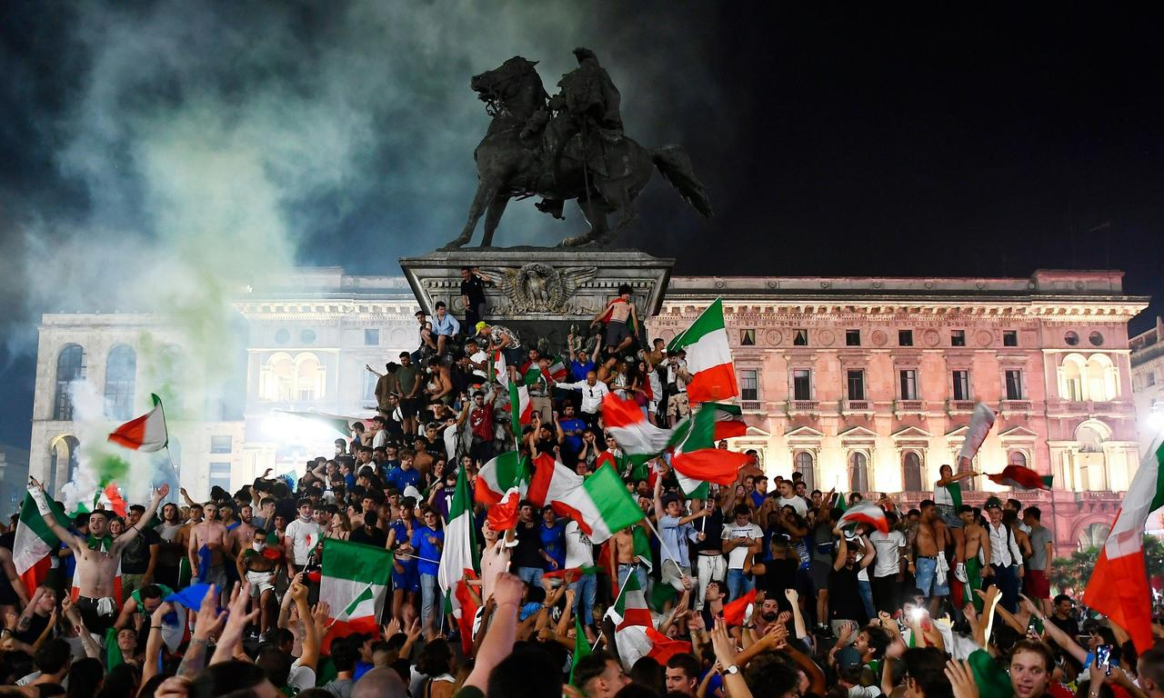 'You can't feel better than this': Italians celebrate Euro 2020 victory