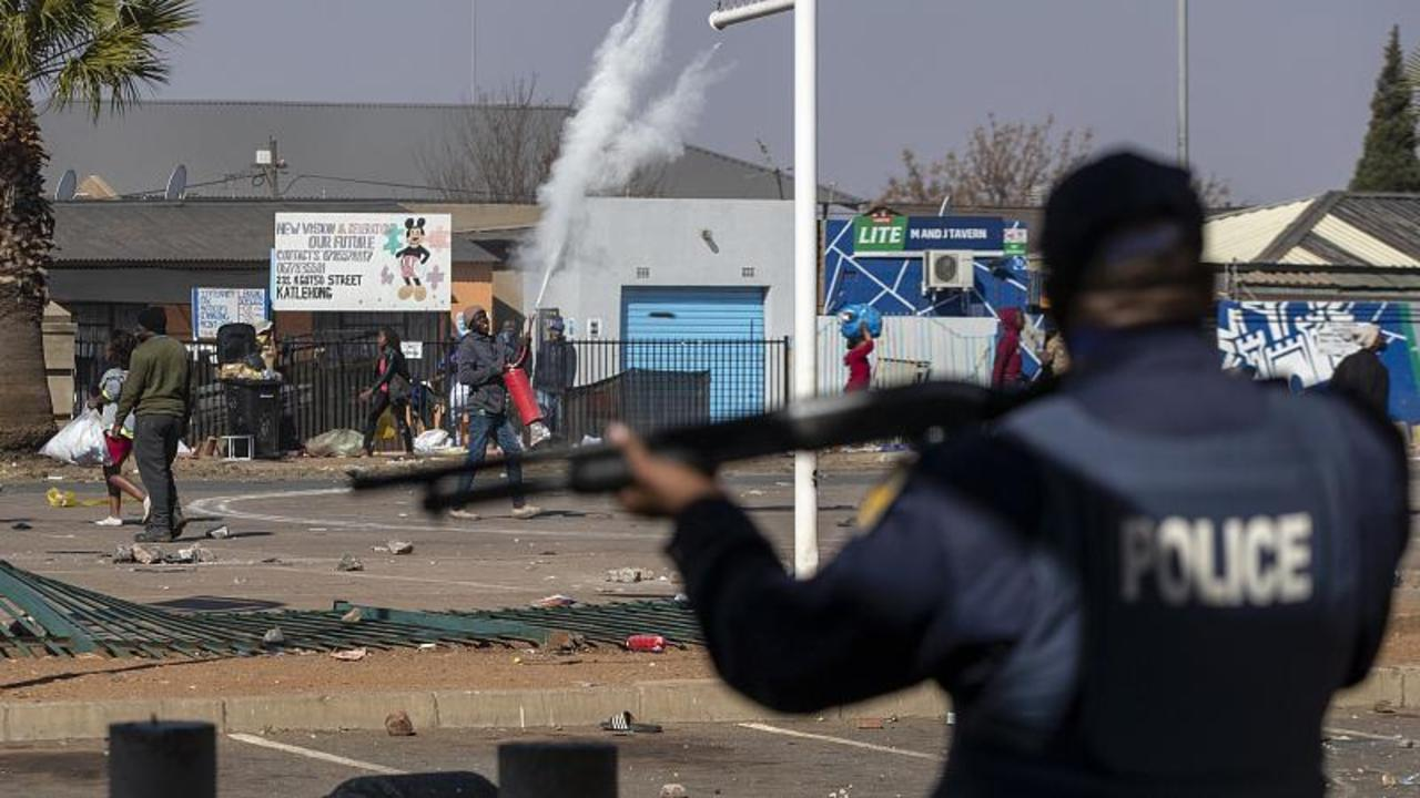 South Africa police minister says they won't allow rioters to make a 'mockery of our democracy'