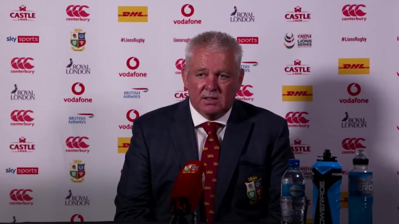 Warren Gatland insists Lions are 'bullish' despite defeat to South Africa A