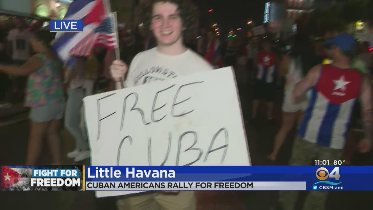 Rallies In Support Of A Free Cuba