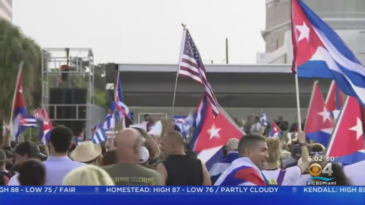 South Florida Rallies In Support Of The People In Cuba