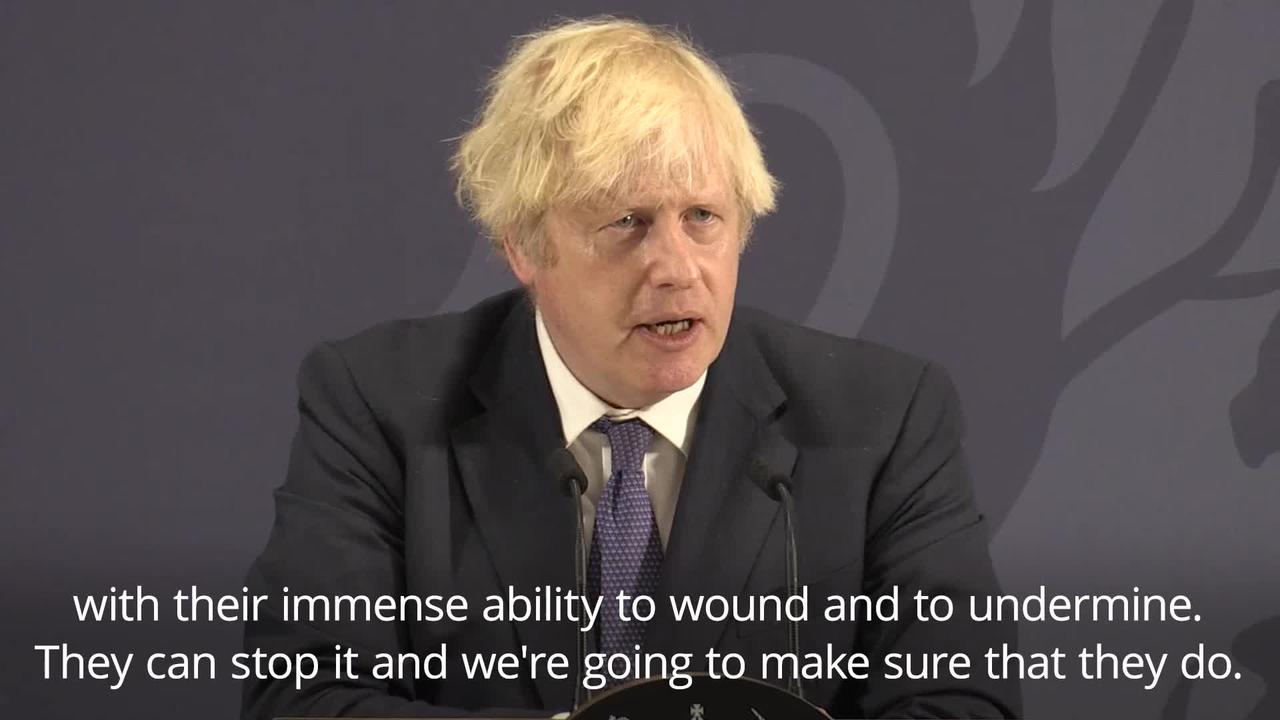 Boris Johnson: I always said it was wrong to boo England players taking the knee