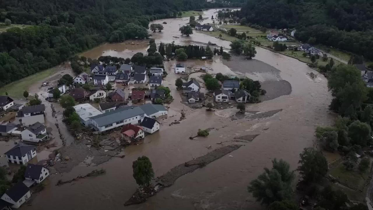 More than 30 dead and dozens missing in heavy floods in Germany and Belgium