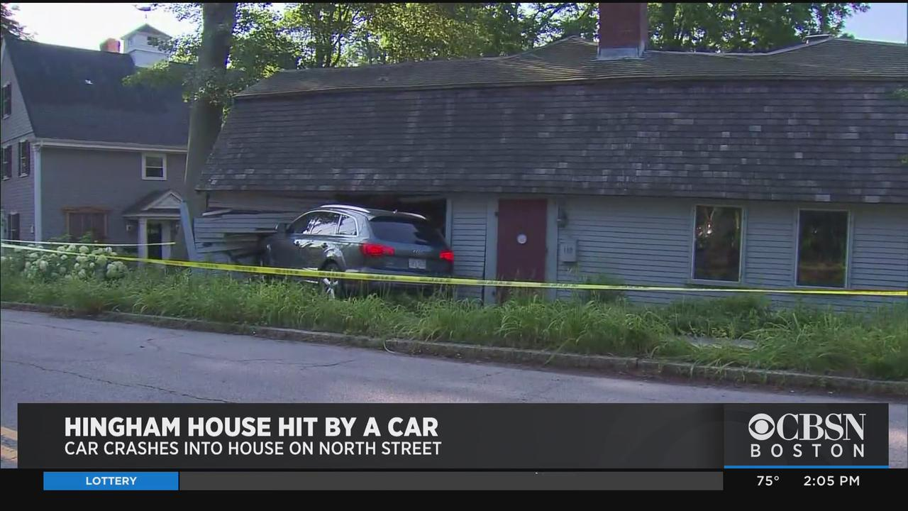 Car Crashes Into Hingham House, Driver Said She Swerved To Avoid Squirrel