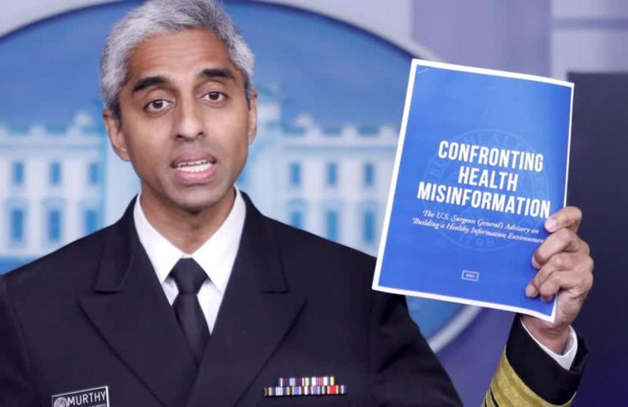 U.S. Surgeon General fights COVID misinformation