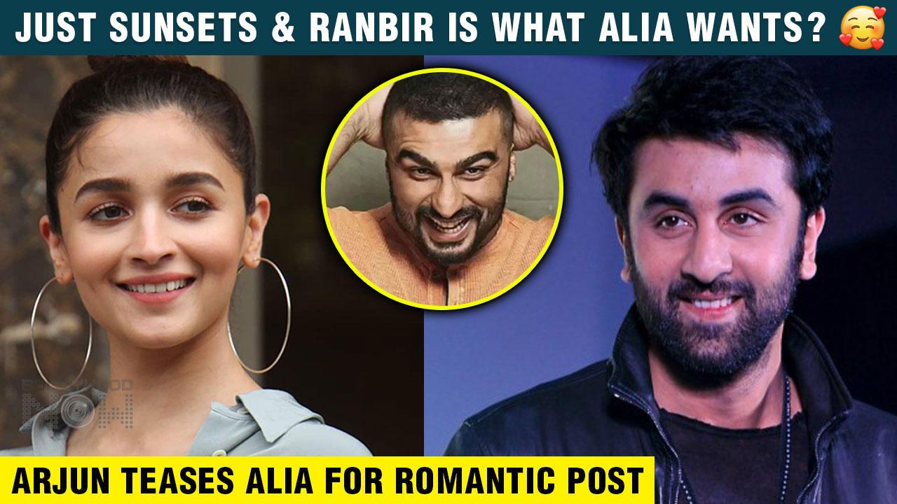 Alia Bhatt's Romantic Post For BF Ranbir Kapoor ? Shares Beautiful Picture | Arjun Kapoor Teases