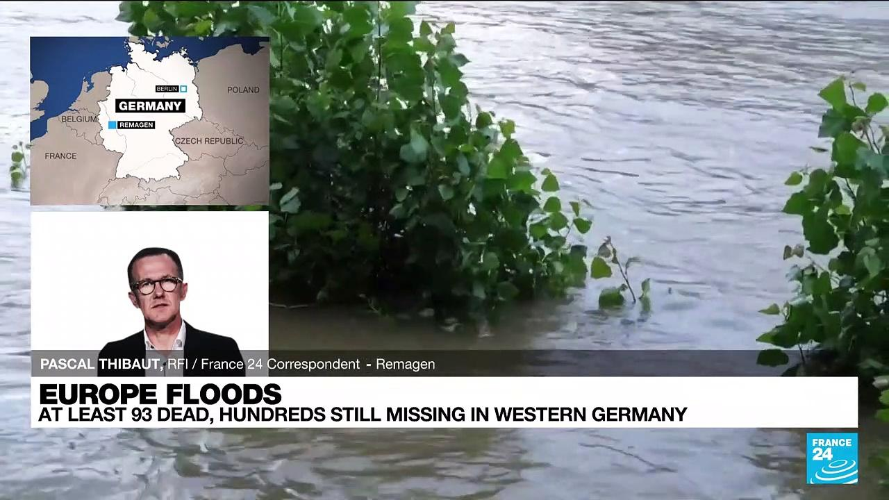 At least 93 dead, hundreds missing in huge floods in Germany and Belgium