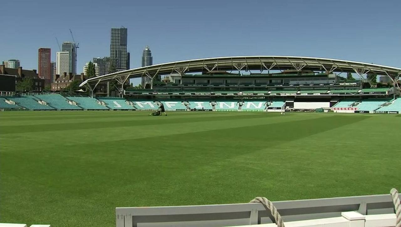 The Oval cricket ground ready for 'Grab a Jab' weekend