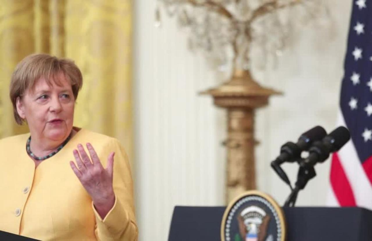 U.S., Germany vow united front on China, Russia