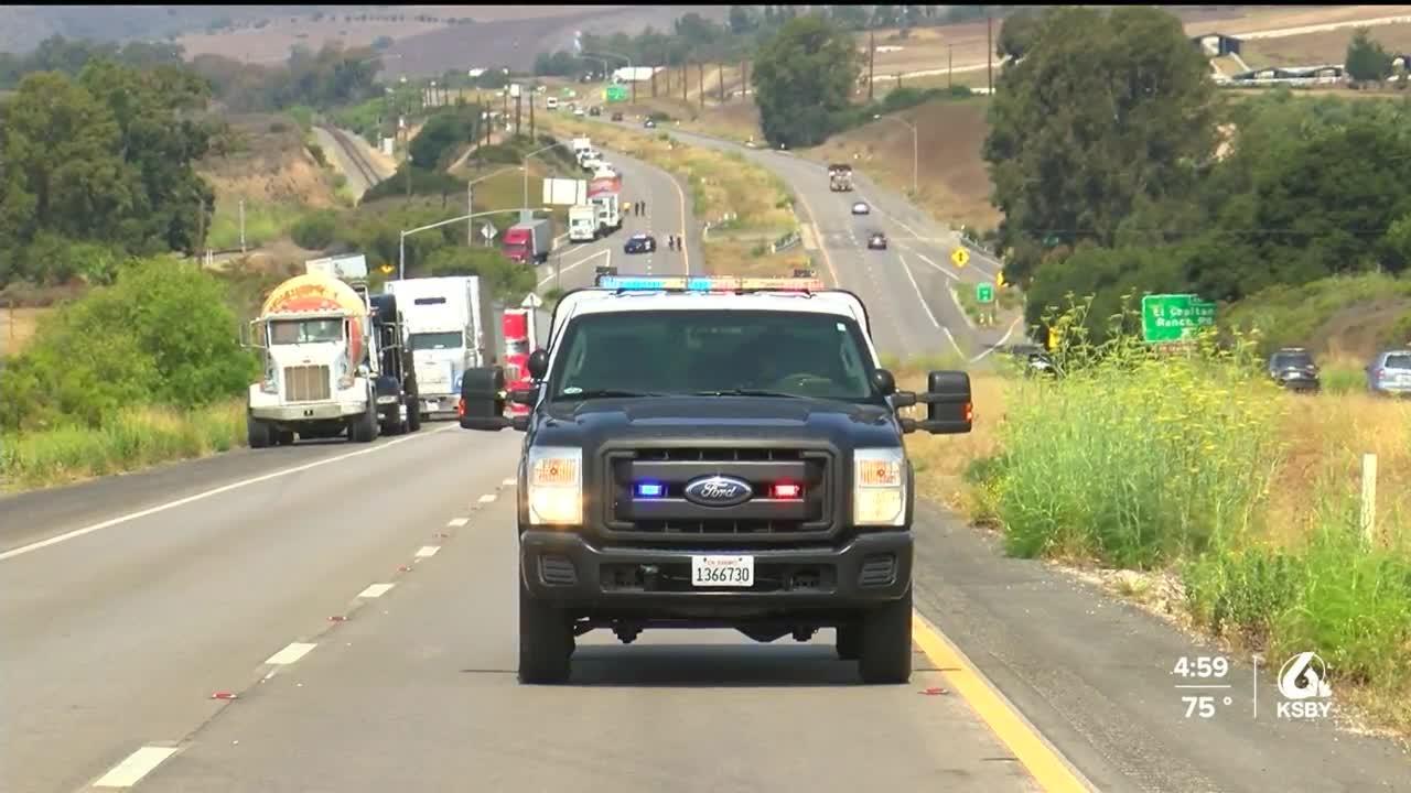 Fatal crash blocks Highway 101 near El Capitan State Beach