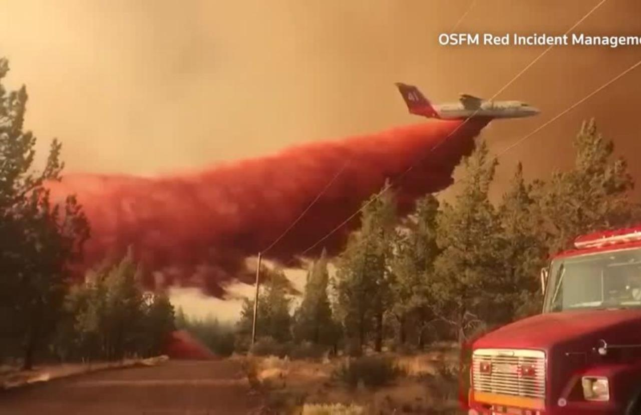 Raging wildfires take toll on Oregon firefighters