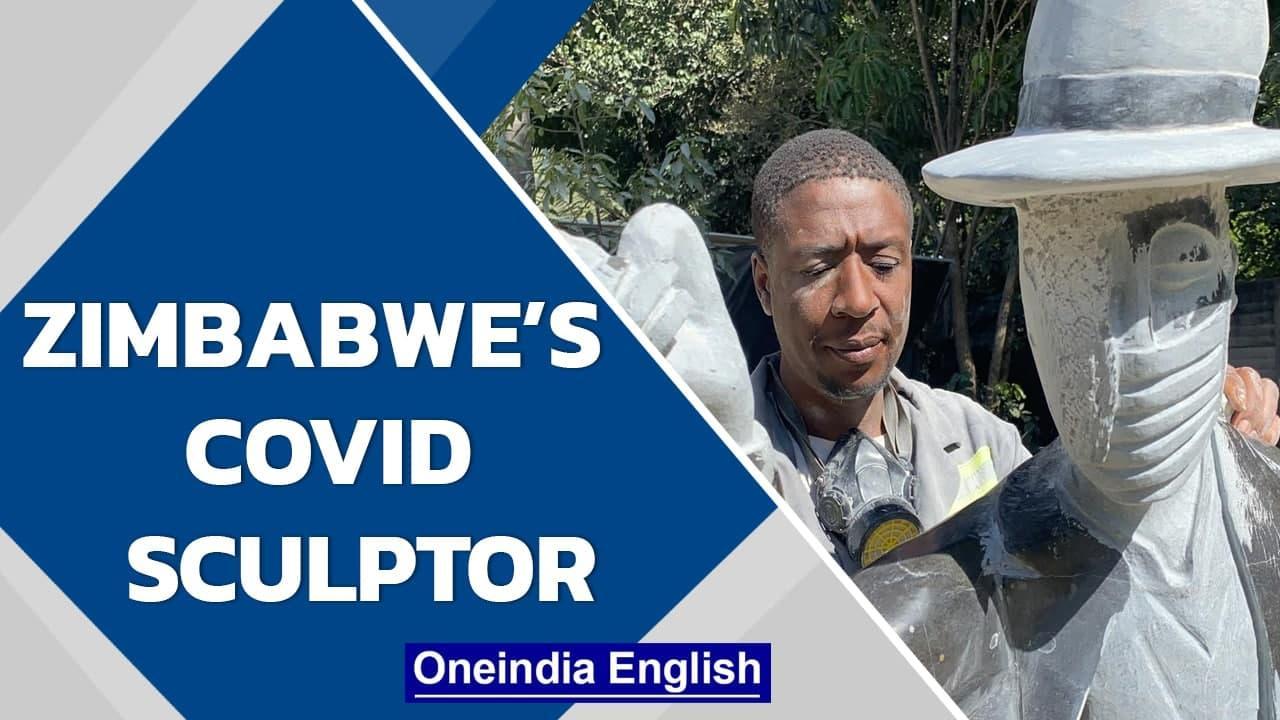 Zimbabwean sculptor David Ngwerume uses art to combat Covid-19   Oneindia News