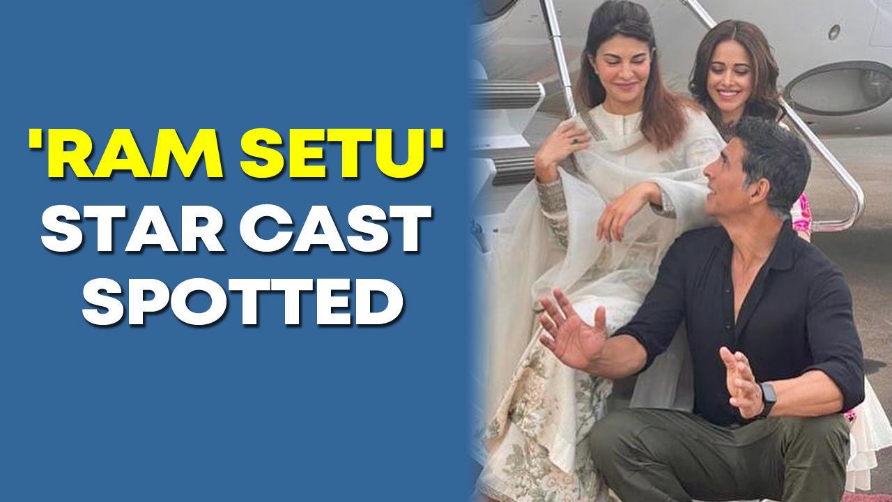 Akshay , Jacqueline and Nushrratt come together to watch the first rushes of their film 'Ram Setu'