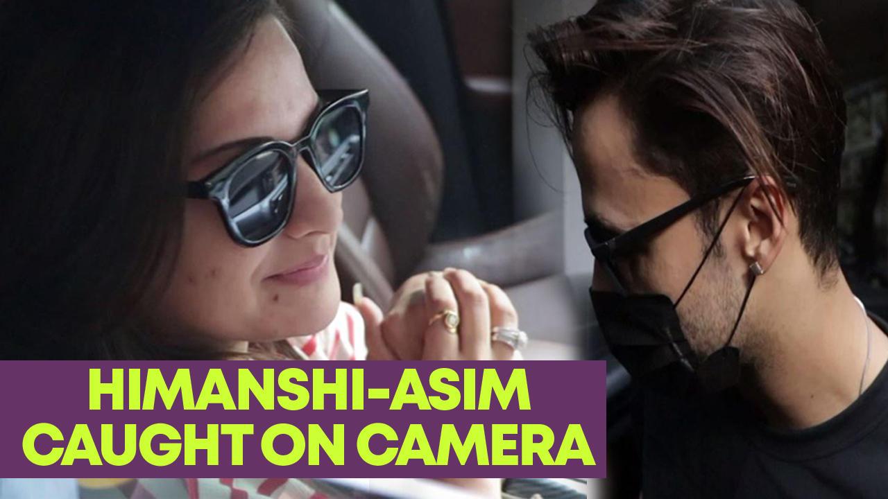 Lovebirds Himanshi Khurana and Asim Riaz caught on comera at Lokhandwala