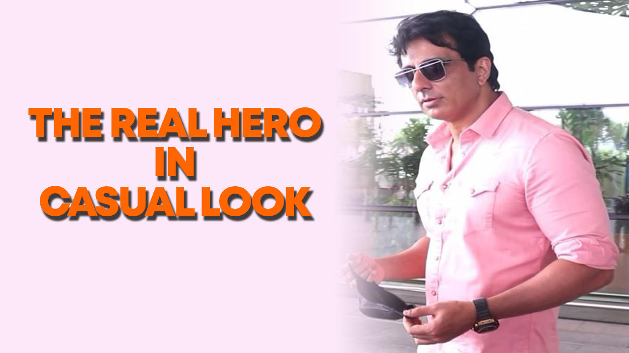 Sonu sood spotted at airport in their casual look