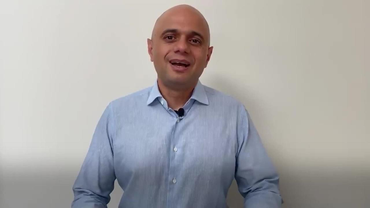 Sajid Javid confirms he has tested positive for Covid-19