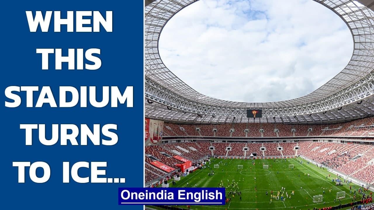 Siberian soccer pitches turn to ice in winter, what happens then? | Oneindia News