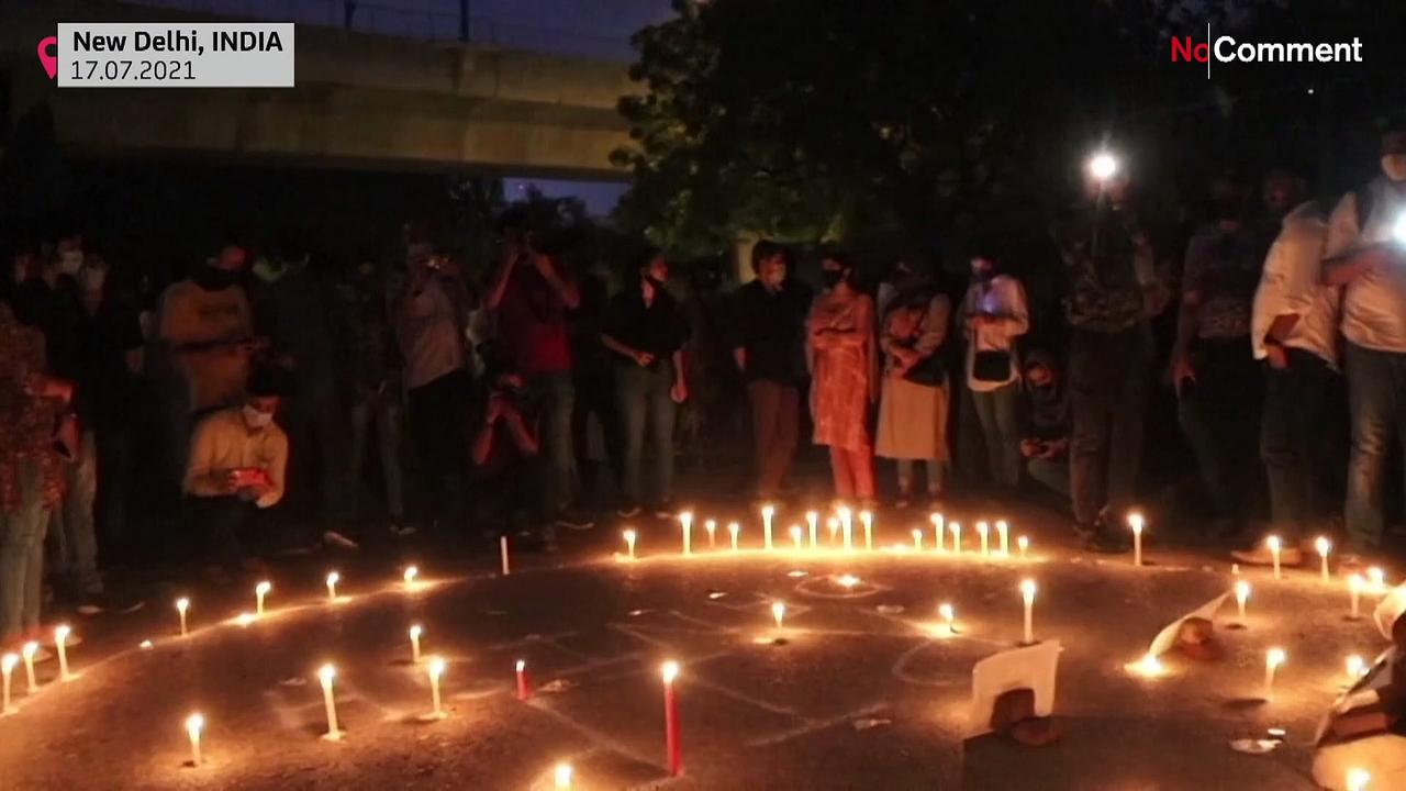 Candlelight vigil for Indian journalist killed in Afghanistan