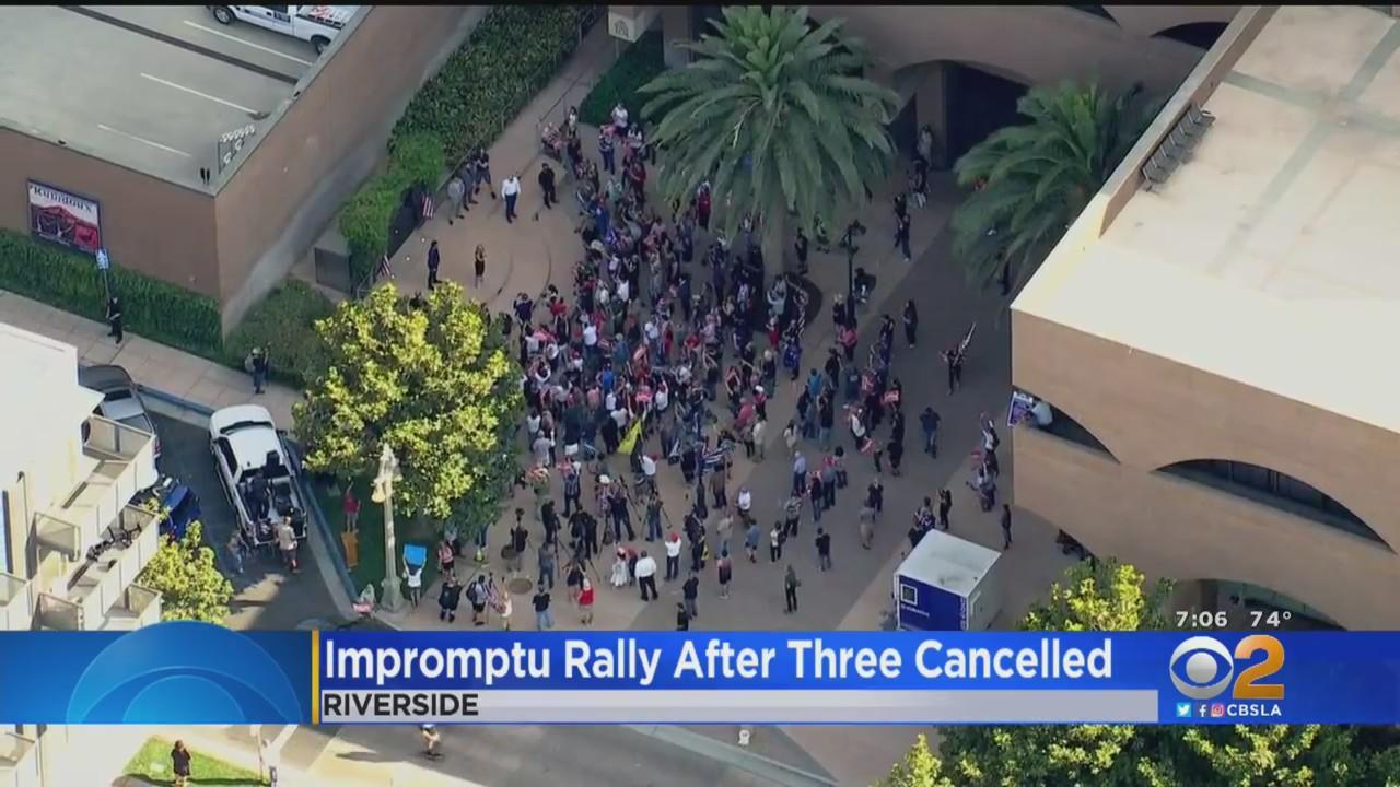 Impromptu Rally Held After America First Event Cancelled 3 Different Times