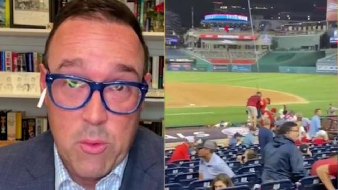CNN editor at the Nationals game with his famiy describes the scene