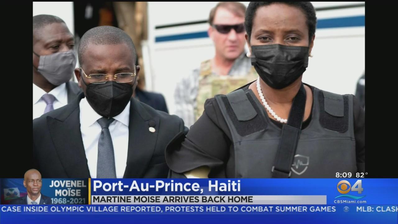 Haitian First Lady Martine Moïse Returns Home