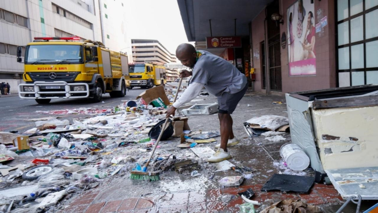 South Africa's Ramaphosa calls for unity amid wreckage of unrest
