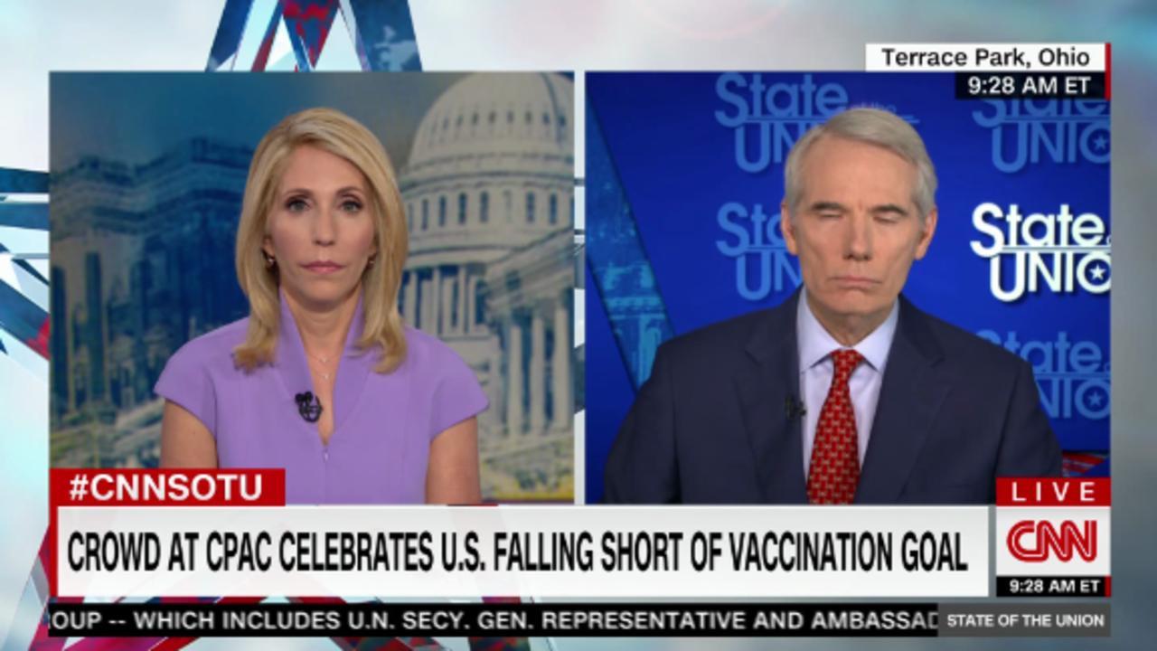 Sen. Portman defends 'miracle' vaccines amid GOP misinformation