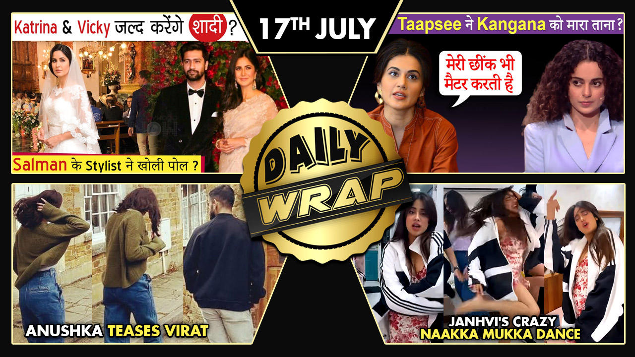 Katrina-Vicky To Get Married?, Taapsee's Dig At Kangana?, Anushka-Virat's Cute Pictures | Top 10 News