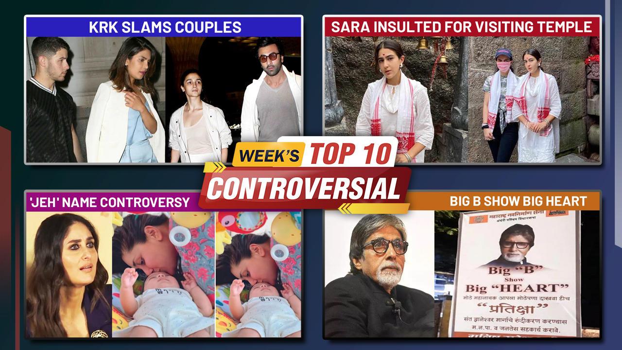 Sara's Temple Visit, Priyanka Nick Ranbir Alia's Divorce, Kareena's Son Jeh Trolled   Week's Top 10