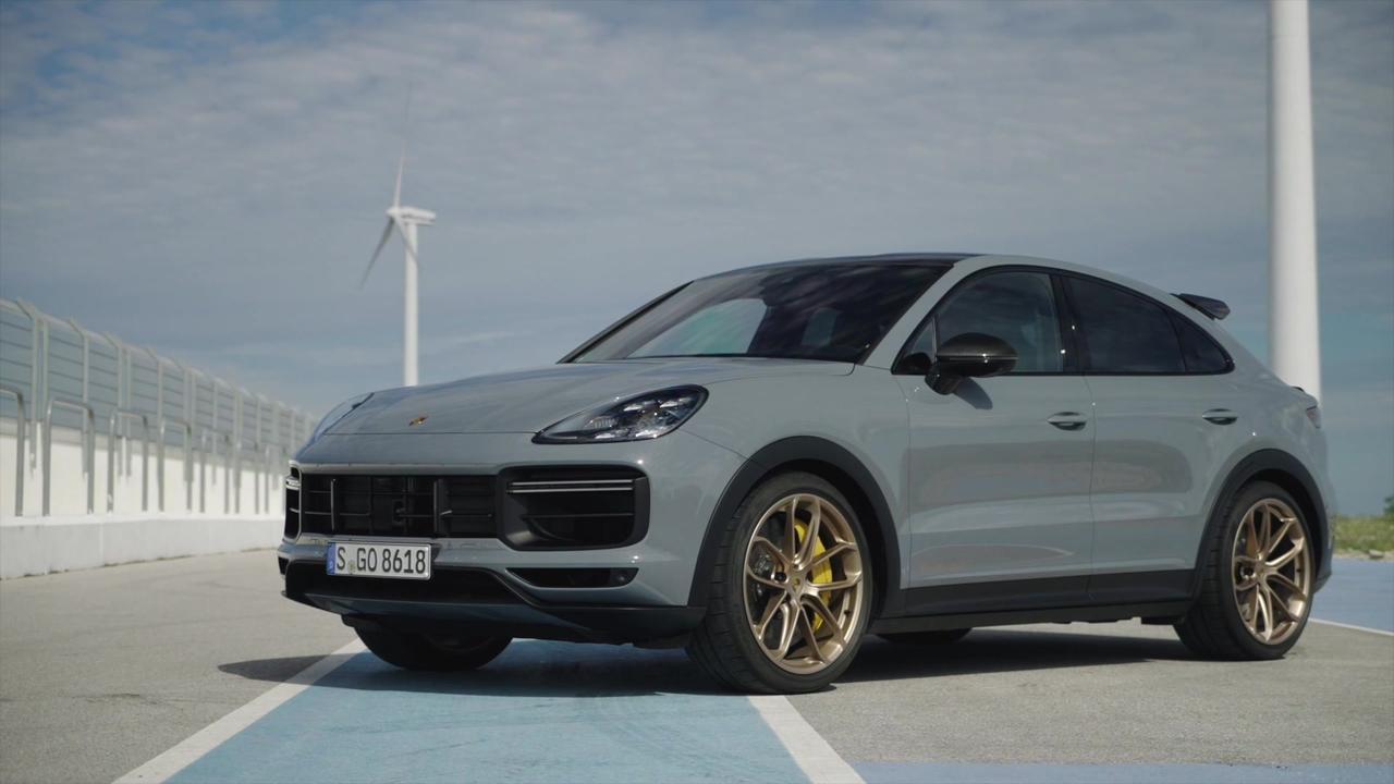 The new Porsche Cayenne Turbo GT Exterior Design in Grey