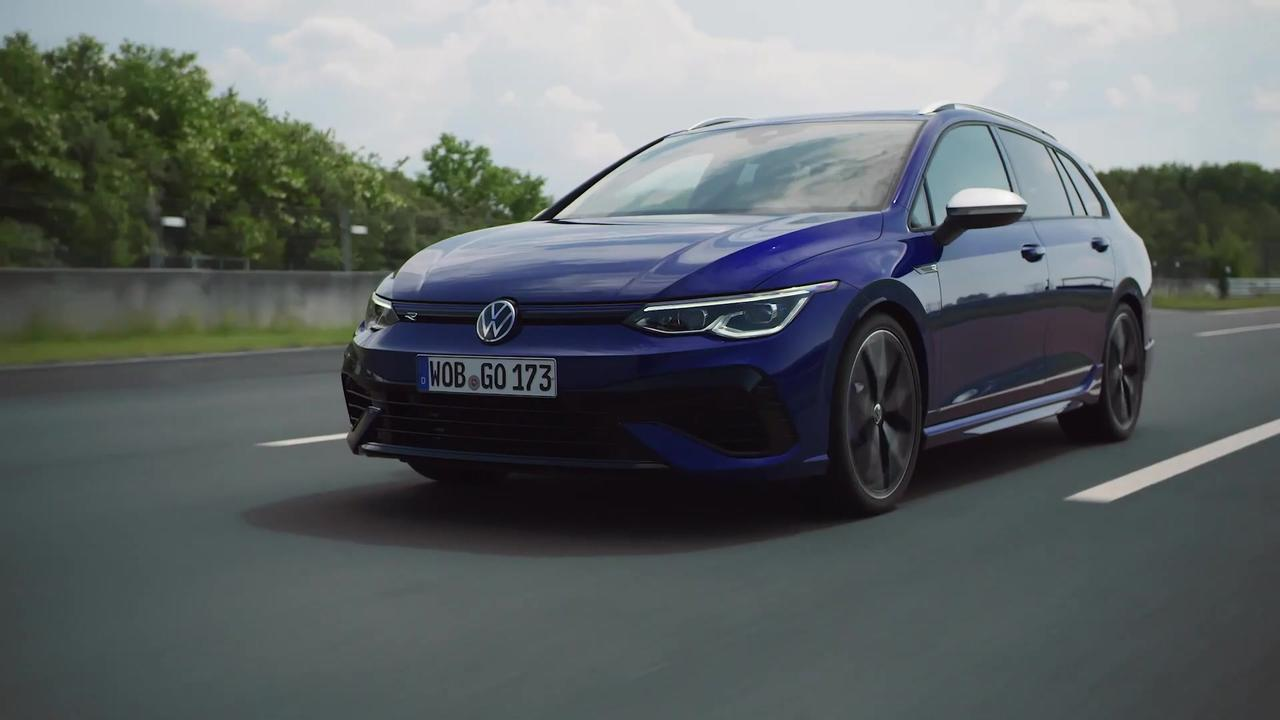 The new Volkswagen Golf R Variant Driving Video