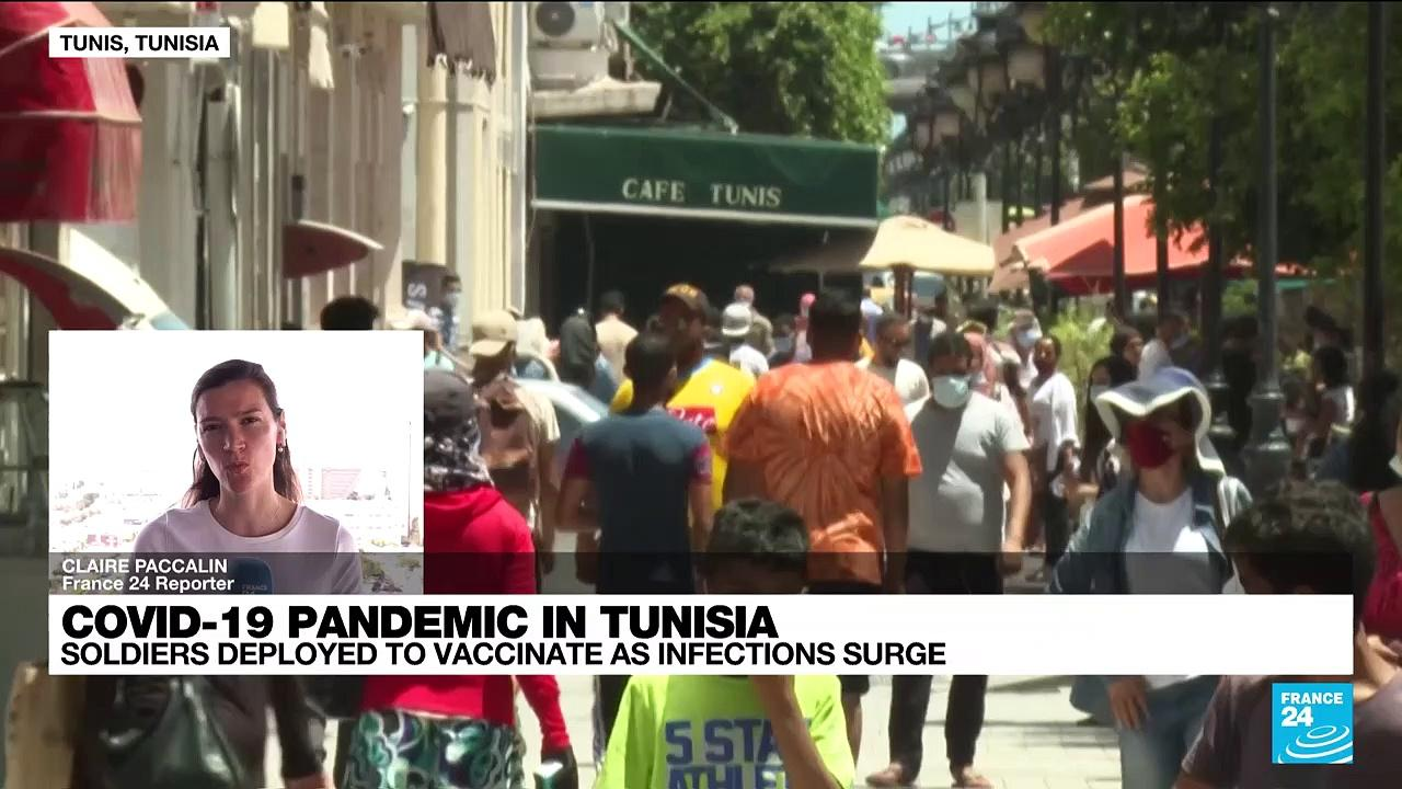 Tunisia puts military on vaccination duty as Covid infections surge