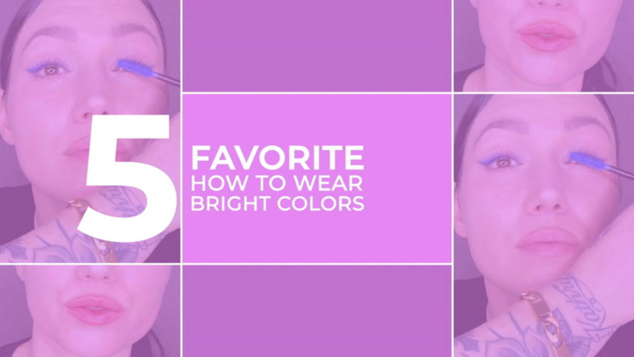 My Five Favorites - Five How To Wear Bright Color Five Different Ways