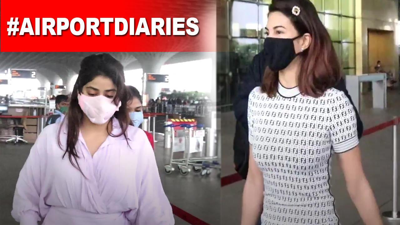 Jacqueline Fernandez, Janhvi Kapoor nail their airport look