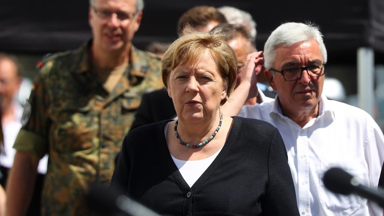 'It's terrifying': Merkel shocked by German flood devastation