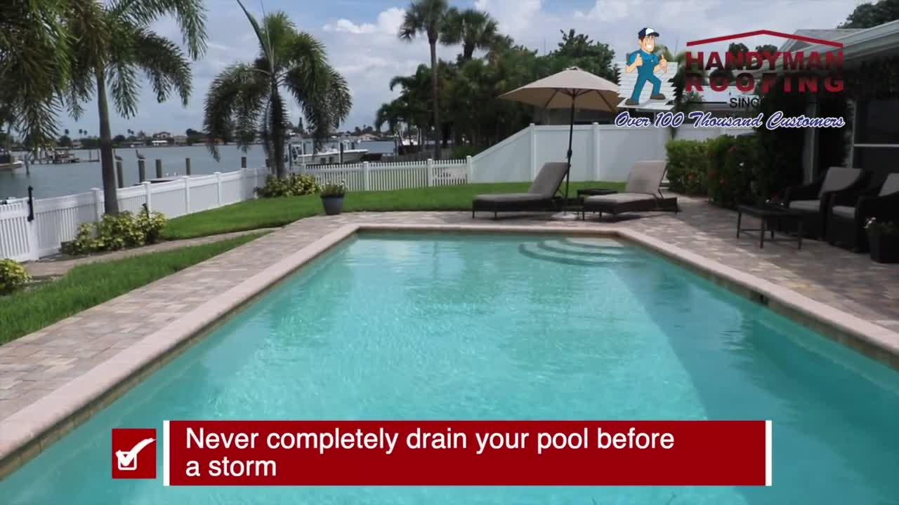 Preparing your pool before a storm   Tracking the Tropics Quick Tip