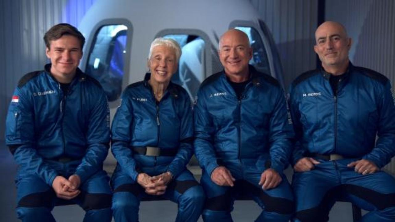 Jeff Bezos addresses critics about the rich flying to space