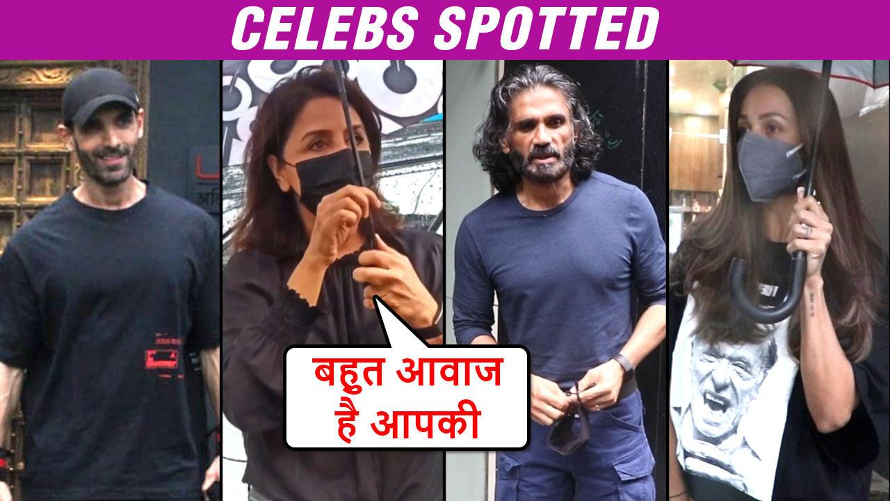 Neetu Kapoor IRRITATED With Loud Voice, John Abraham Ripped Avatar, Janhvi Kapoor   Celeb Spotted