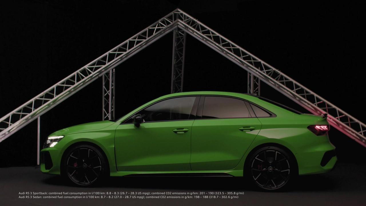 The design of the Audi RS 3