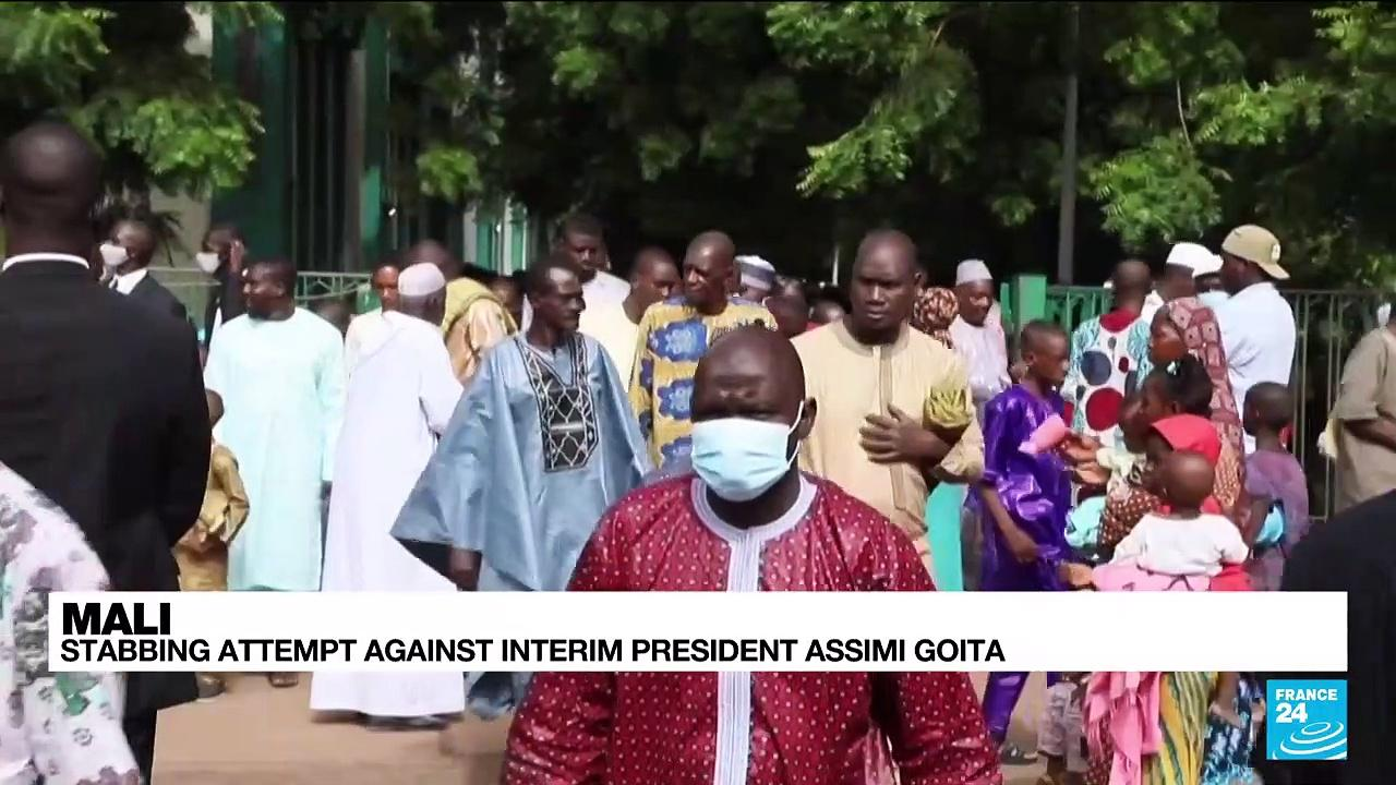 Mali's interim president Goita unharmed after attack during Eid prayers
