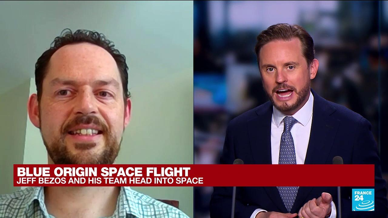 Bezos riding own rocket on company's 1st flight with people