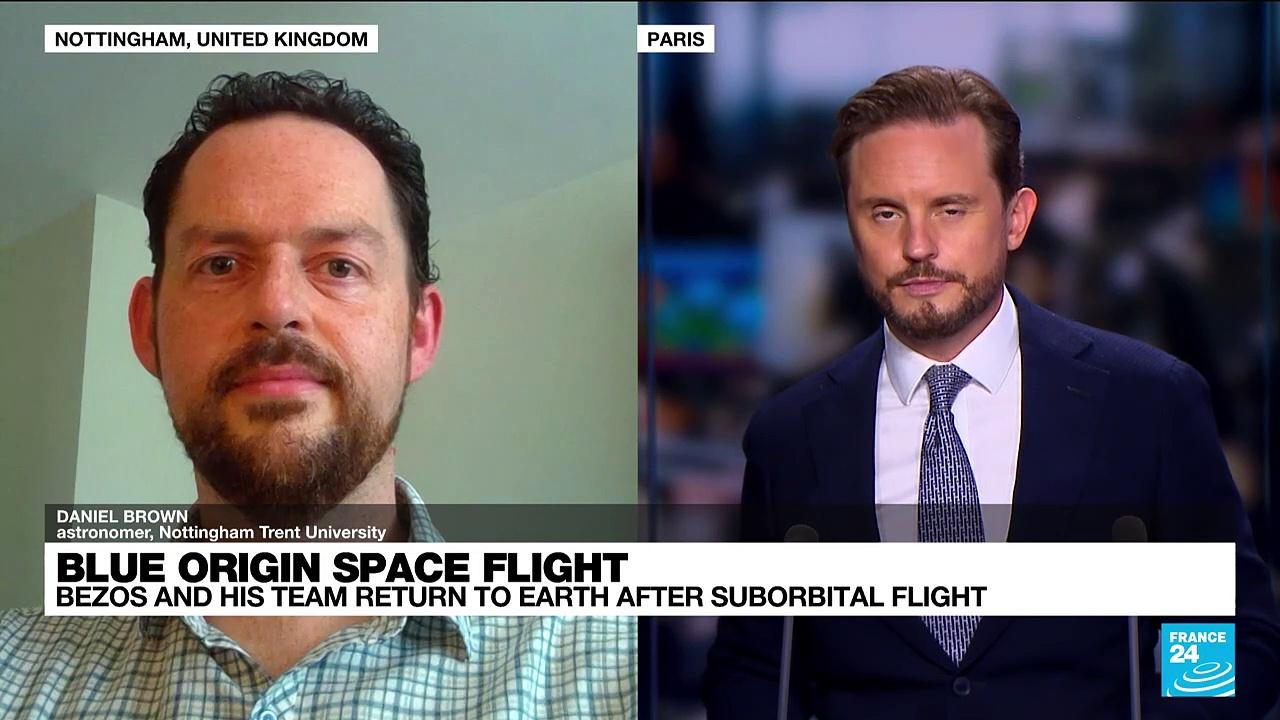 Blue Origin capsule carrying Jeff Bezos touches down