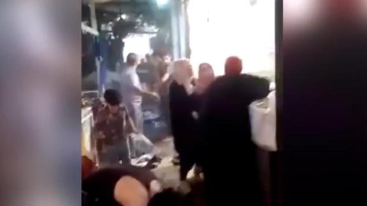 Footage shows scene of market attack in Baghdad