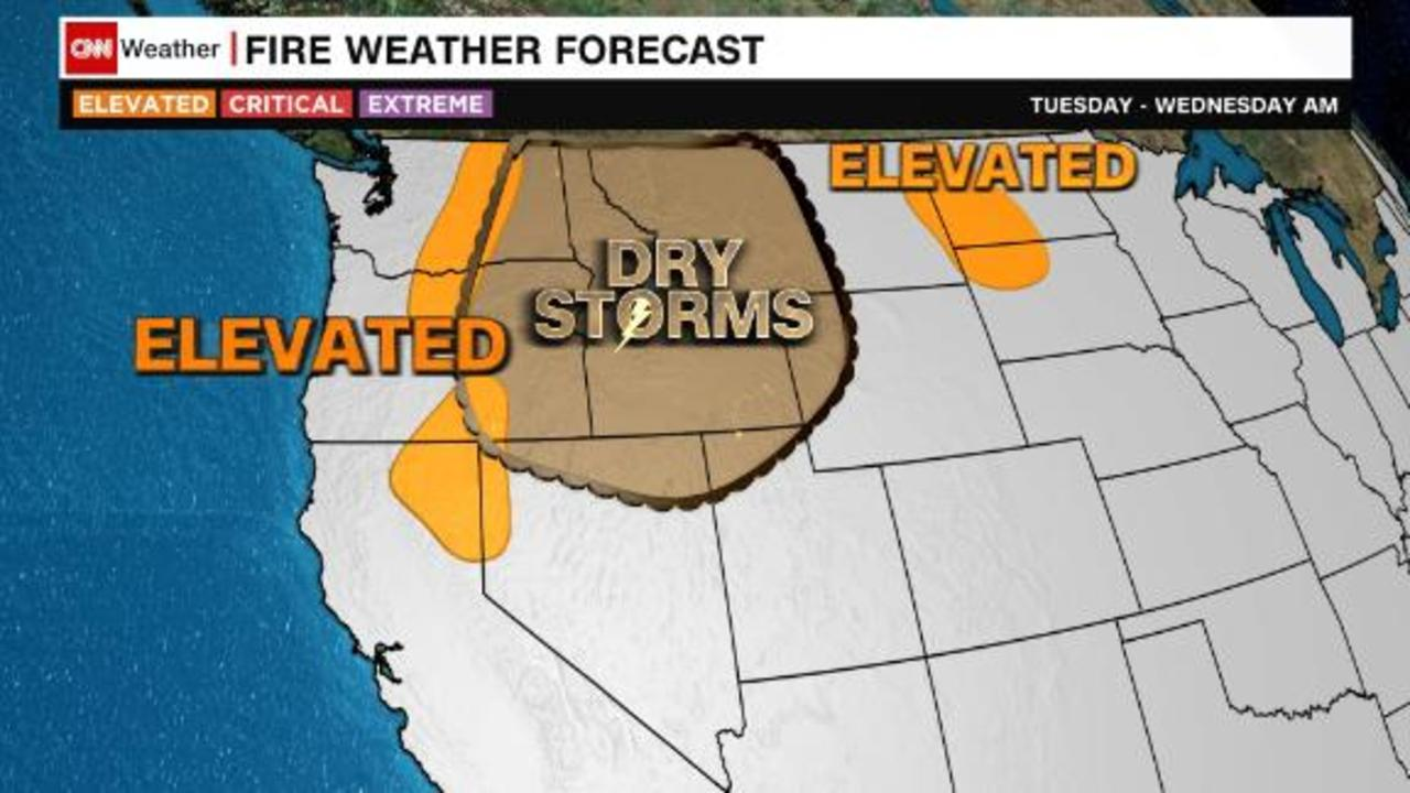 More dry storms for the West