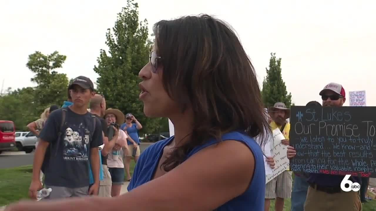Protest held in Meridian over COVID-19 vaccine requirement at local health systems