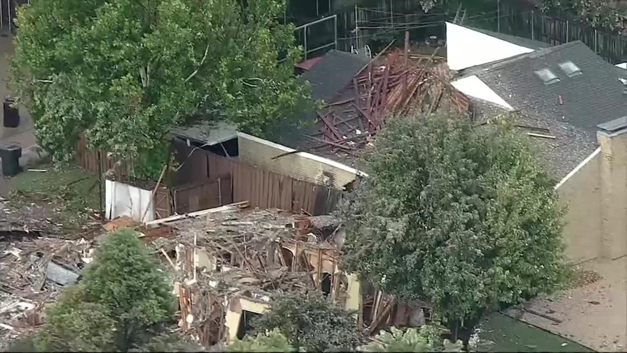Six people injured after house explodes near Dallas