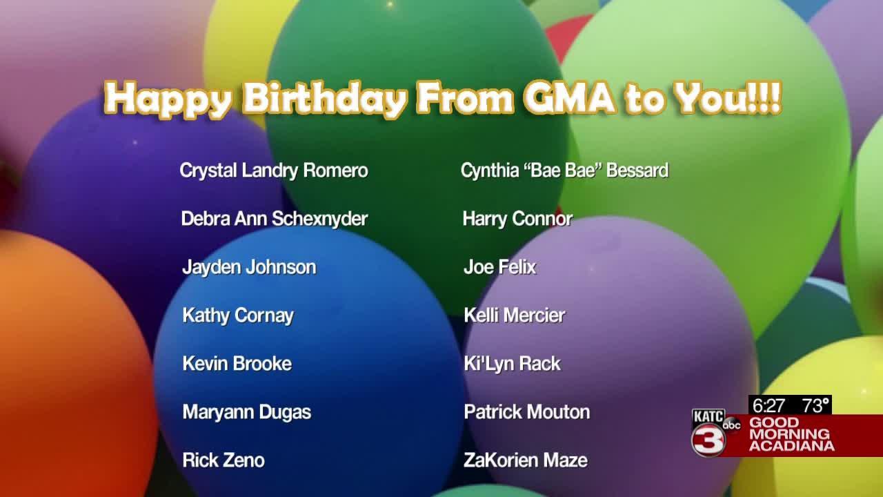 Today's Birthdays  07/20/2021